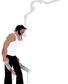 Basic Paper - Wolverine Art Print by Greg Guillemin. Even in pop art form, Wolverine is hot.