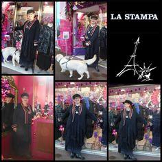 robe & manteau coordonnés by LA STAMPA      chez PARIS NEW-YORK       à SAINT-LO