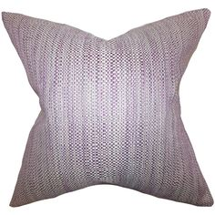 Offer a relaxing and homey space to your guests by adding this beautiful decor piece. This throw pillow features a pretty purple hue and a woven design.