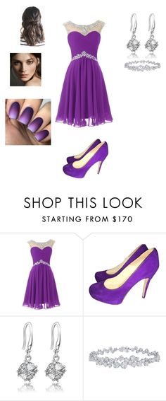 """""""Kaitlyn"""" by basheygirl on Polyvore featuring Brian Atwood, Harry Winston and Burberry"""