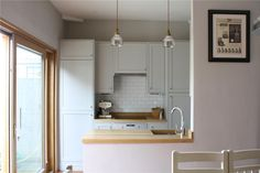 Cornforth white walls, Pavillion Gray kitchen cabinets? Farrow & Ball Inspiration
