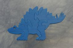 Stegosaurus Dinosaur Puzzle- Hand Made Wooden Puzzle by JoliLimited on Etsy
