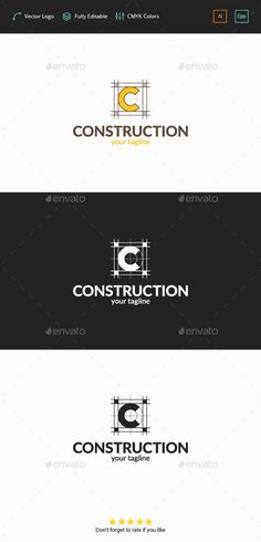 Construction Plan  C Logo — Vector EPS #c #construction company • Available here → https://graphicriver.net/item/construction-plan-c-logo/11767372?ref=pxcr