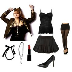 Madonnau0027s 80u0027s style  sc 1 st  Pinterest & Coolest Madonna from the 80u0027s Homemade Halloween Costume | Coolest ...