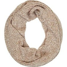 Beige marl sequin snood - scarves - accessories - women