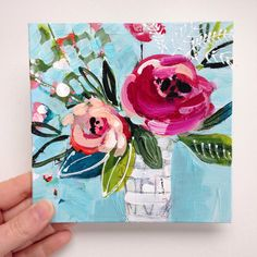 Some flowers for your Saturday 🌸 Acrylic Painting Canvas, Watercolor Paintings, Floral Paintings, Oil Paintings, Original Art, Original Paintings, Garden Painting, Love Notes, All Art