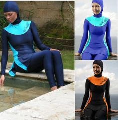 Women Muslim Swimwear Modest Swimsuit Full Cover Islamic Beachwear Costumes in Clothing, Shoes & Accessories, Women's Clothing, Swimwear | eBay