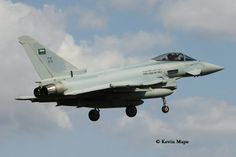 """313 Royal Saudi Air Force 3 Sqdn Eurofighter Typhoon II FGR54 c/s """"Mazda 01 – Arrived foe Exercise Green flag - RAF Conningsby, August 2013."""
