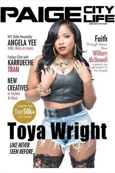 DIVASNAP.COM: WEEKEND MAGAZINE DIVA: TOYA WRIGHT SUPER HOT ON THE COVER OF PAIGE CITY LIFE MAG + SEE WHO TOYA HANGED WITH OVER THE WEEKEND...{Photo/videos}  See more at Divasnap.com
