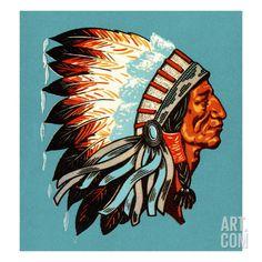vintage indian chief
