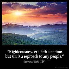Imagem inspirada por Provérbios 14:34