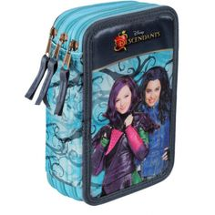 Disney Descendants Triple Filled Pencil Case