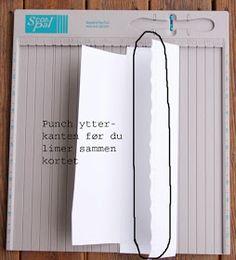 Ann Kristins fristed: Mal på 200 g sjokoladekort Punch, Scrapbook Box, Scrapbooking, Letter, Paper Crafts, Cards, Tutorials, Envelopes, Crafting