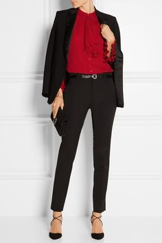 Gucci | Ruffled silk-georgette blouse | NET-A-PORTER.COM