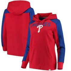 Philadelphia Phillies Fanatics Branded Women's Iconic Pullover Hoodie - Red/Royal - $59.99