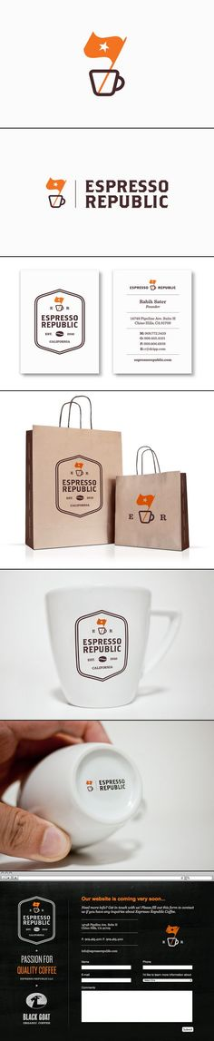 Creative Design, Graphic, Branding, Packaging, and Espresso image ideas & inspiration on Designspiration Brand Identity Design, Graphic Design Branding, Corporate Design, Corporate Identity, Brand Design, Coffee Branding, Logo Branding, Coffee Logo, Brand Packaging