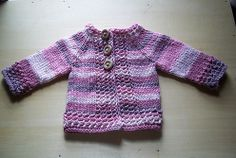 Just Hatched Cardigan.  Love top down construction.