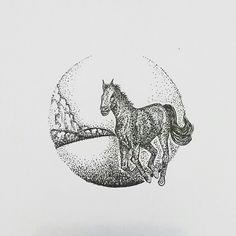 wild horse #practice #pointillism #dotwork #gradation #doodle #doodleart #doodleartindonesia #draw #drawing #circle #sketch #sketching #illustration #art #artwork #artoftheday #horse #wildhorse