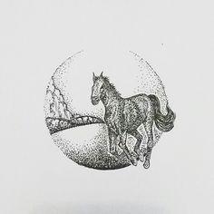 wild horse #practice #pointillism #dotwork #gradation #doodle #doodleart #doodleartindonesia #draw #drawing #circle #sketch #sketching #illustration #art #artwork #artoftheday #horse #wildhorse