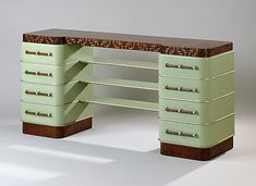 Art Deco sideboard designed by Kem Weber, ca 1928. For the Grand Rapids Chair Company.