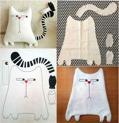 Шитье: текстильная подушка своими руками - Кот. Фото №1