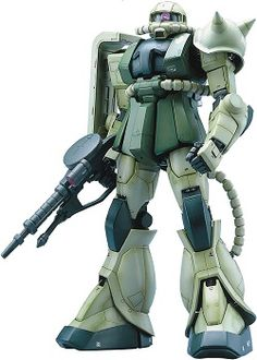 An extremely detailed and highly engineered model kit of the Zaku from Mobile Sut Gundam.  Furnished with an internal skeleton featuring pistons, sensor arrays, molded exhaust piping, as well as LED powered eye (CR1220 battery sold separately.