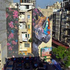 "Ernesto MARANJE  ""The Rhino and the Oxpecker "" #beruit #lebanon  #ernestomaranje"