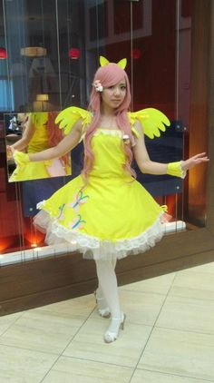 fluttershy costume - Google Search  sc 1 st  Pinterest & My Little Pony/Equestria Girls Inspired Fluttershy Tutu with Wing ...
