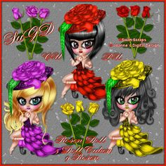 Dagny`s Scrap und Grafik Design: CU/PU Rosen Dolls