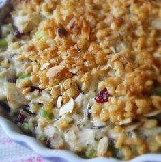 A combination of all of the best bits of different chicken casseroles and it doesn't use canned soup.