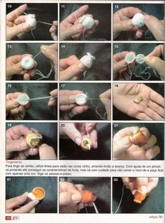 Arte e croche: Barradinho de frutas em croche - passo a passo