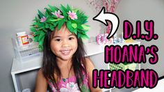 DIY Flower Headband from Moana | DIYwithOllie.com | DIYwithOllie.com - Easy Crafts for Kids