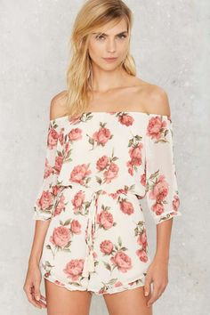 Fully Grown Off-the-Shoulder Romper | Shop Clothes at Nasty Gal!
