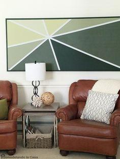 Remodelando la Casa: DIY - Geometric Wall Art