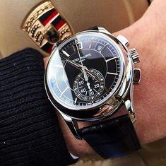 REPOST!!! One of the best annual calendar chronographs on the market #AllBlack Patek Philippe 5905P @watchrookiee ⚜️ . . . . . #WWATCHES #patekphilippe #audemarspiguet #rolexero #nautilus #royaloak #watchporn #watchlife #chronograph #watchanish #dailywatc