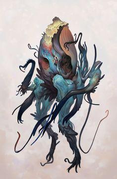 Mark Facey / h-abstraits / déité / couleur / mystère / tentacules / monstre