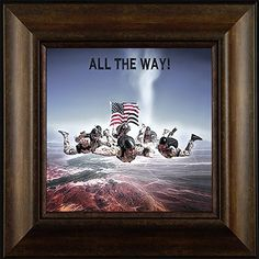 All the Way! By Todd Thunstedt 20x20 Sky Dive Diving Parachute Jumping Jumper Patriotic Soldier Military War Paratrooper Airborne 101st 82nd Framed Art Print Wall Décor Picture ThunderMark Art and Graphics http://www.amazon.com/dp/B014B566ZC/ref=cm_sw_r_pi_dp_6Q64vb171VS8A