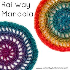 Railway Mandala Pattern {Crochetville Blog Tour 2016} | Look At What I Made | Bloglovin'