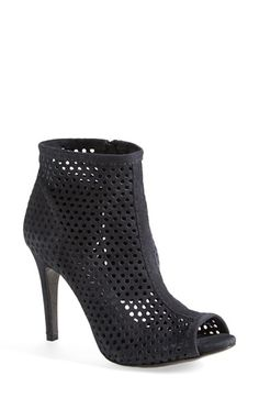 00563e2dc3e Free shipping and returns on Pedro Garcia  Sylvana  Perforated Suede Peep  Toe Bootie (