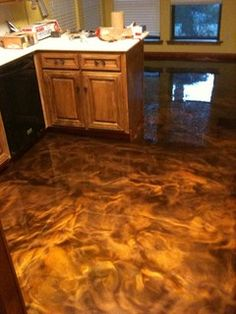 Metallic Epoxy Floor... I want this for my garage gym.
