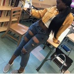 Discover recipes, home ideas, style inspiration and other ideas to try. Dope Outfits, Fall Outfits, Summer Outfits, Fashion Outfits, Black Girl Fashion, Love Fashion, Moda Hippie, Vans Outfit, Outfit Goals