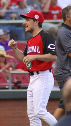 Josh Hutcherson at the MLB All-Star Legends & Celebrity Softball Game in Cincinnati Ohio, July 12, 2015