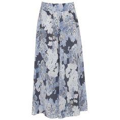 Mint Velvet Alicia print silk maxi skirt