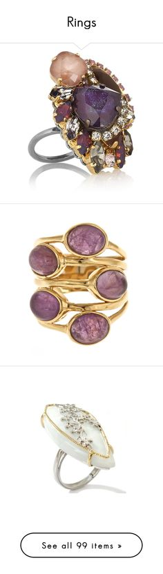 """""""Rings"""" by farawayfromreallife ❤ liked on Polyvore featuring jewelry, rings, accessories, colorful rings, filigree ring, tri color ring, colorful jewelry, erickson beamon jewelry, jewels and amethyst"""