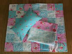 Doll quilt , pillow and sheet  set by TheAngoraBunny on Etsy https://www.etsy.com/au/listing/537501785/doll-quilt-pillow-and-sheet-set