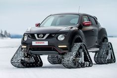 We don't have snow this side of the world, but wouldn't you like to drive this customised #Nissan #Juke #NismoRS? We certainly would! #FunFriday