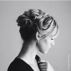 @annieforgetmeknots Elegant Updo, Prom Hair, Hair Hacks, Updos, Hairstyles, Earrings, Diy, Fashion, Hair