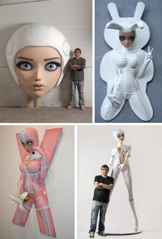 Colin Christian.... Giant anime-Esque sexy lady sculptures. You can't ever go wrong with that.