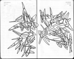 #2006 #abstractart #artabstrait #indianInk #encredechine #dessin #drawing #black #noir #marqueur #feutre #stylo #marker #pen #blackandwhite #futurist #mechanical #handdrawn #faitmain // 39-001