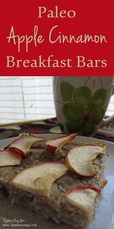 Easy Freezer Recipes: Paleo Apple Cinnamon Breakfast Bars